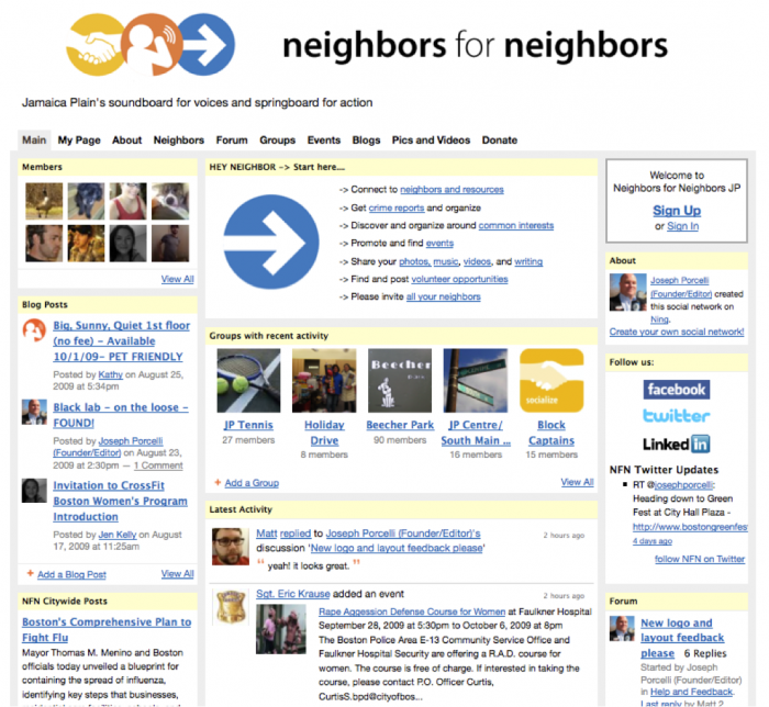 NeighborsForNeighbors.org-2009-ScreenCapture