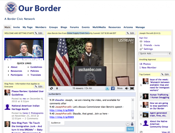 What the DHS Our Border Social Network looked like.